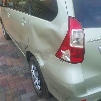 Toyota bumper bash with bumper repair needed