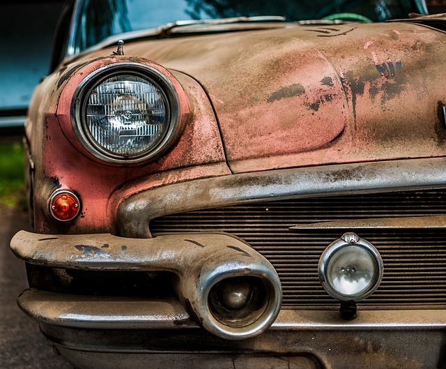 Rusted car ready for rust removal. Often classic cars need some rust removal done